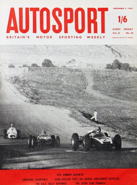 Cover of Autosport magazine, 9th December 1960