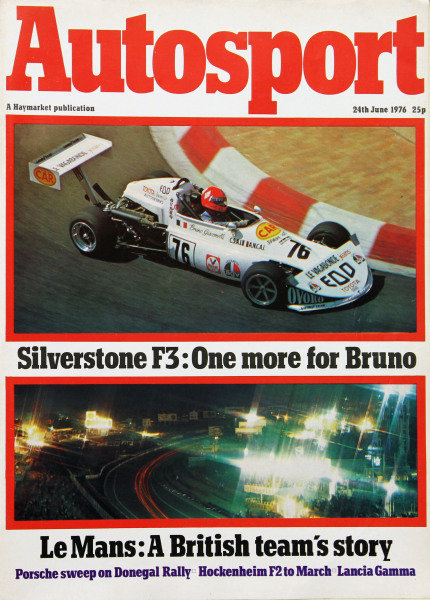 Cover of Autosport magazine, 24th June 1976