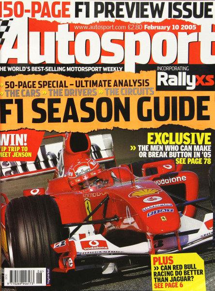 Cover of Autosport magazine, 10th February 2005