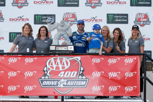 Monster Energy NASCAR Cup Series AAA 400 Drive for Autism Dover International Speedway, Dover, DE USA Sunday 4 June 2017 Jimmie Johnson, Hendrick Motorsports, Lowe's Chevrolet SS World Copyright: Matthew T. Thacker LAT Images ref: Digital Image 17DOV1mt1950