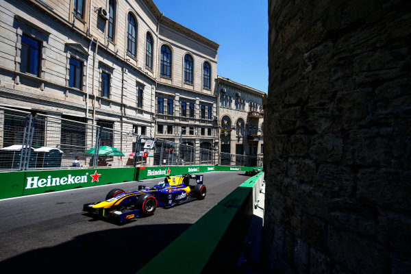2017 FIA Formula 2 Round 4. Baku City Circuit, Baku, Azerbaijan. Sunday 25 June 2017. Nicholas Latifi (CAN, DAMS)  Photo: Andy Hone/FIA Formula 2. ref: Digital Image _ONY9759