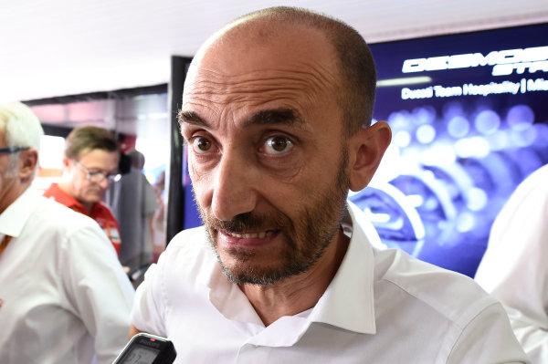 2017 MotoGP Championship - Round 13 Misano, Italy. Thursday 7 September 2017 Claudio Domenicali, Ducati CEO, Andrea Dovizioso, Ducati Team  World Copyright: Gold and Goose / LAT Images ref: Digital Image 7127