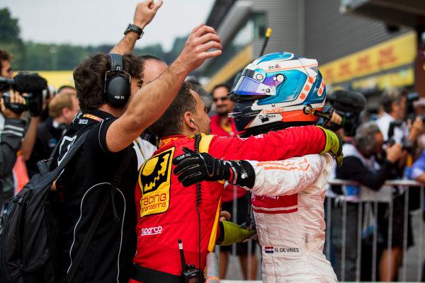 2017 FIA Formula 2 Round 8. Spa-Francorchamps, Spa, Belgium. Sunday 27 August 2017. Nyck De Vries (NED, Racing Engineering).  Photo: Zak Mauger/FIA Formula 2. ref: Digital Image _56I3474
