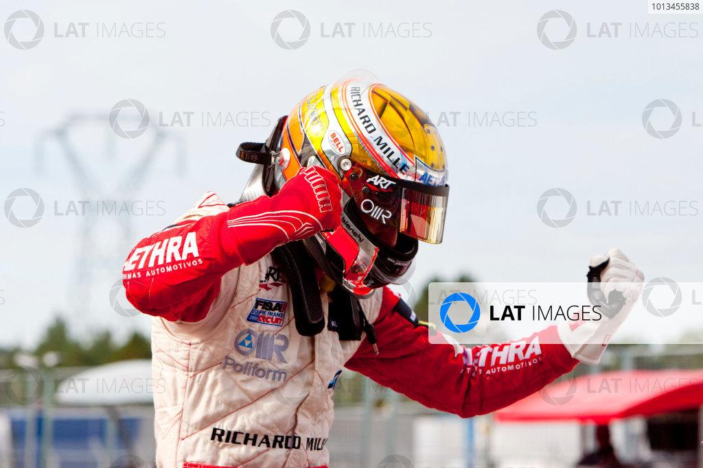 Dijon - Prenois, France. Sunday 11th October. Jules Bianchi (ART Grand Prix Dallara F308 / Mercedes) celebrates winning the 2009 Formula 3 Euro Series. World Copyright: Alastair Staley/LAT Photographic.Ref: _O9T9645 jpg