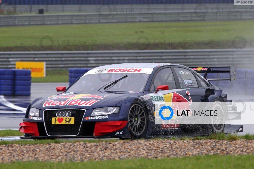 Race winner Mattias Ekstrom (SWE), Audi Sport Team Abt Sportsline, Red Bull Audi A4 DTM (2009).DTM, Rd8, Oschersleben, Germany, 16-18 September 2011 Ref: Digital Image dne1118se519