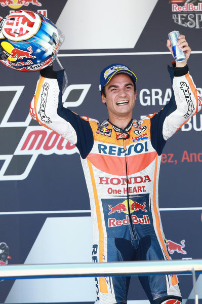 2017 MotoGP Championship - Round 4 Jerez, Spain Sunday 7 May 2017 Podium: Race winner Dani Pedrosa, Repsol Honda Team World Copyright: Gold & Goose Photography/LAT Images ref: Digital Image 668760