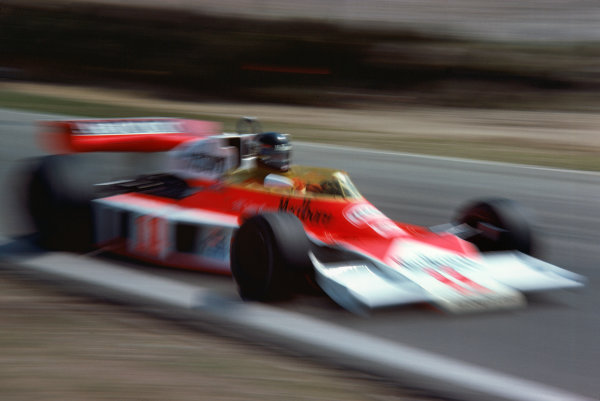 Zolder, Belgium. 14th - 16th May 1976. James Hunt (McLaren M23-Ford), retired, action. World Copyright: LAT Photographic.  Ref: 76 BEL 22.