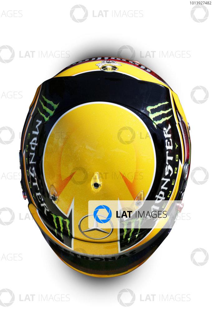 Albert Park, Melboune 14th March 2013 The helmet of Lewis Hamilton, Mercedes AMG. World Copyright: LAT Photographic ref: Digital Image DKAL8844