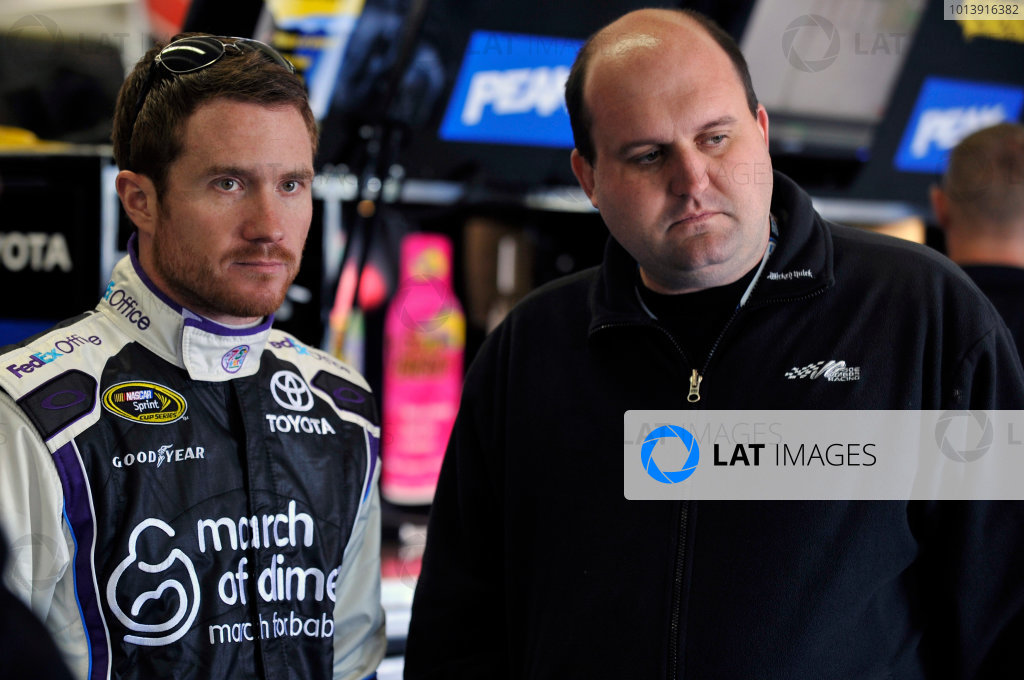11-13 April, 2013, Fort Worth, Texas USA Brian Vickers, FedEx Office/March of Dimes Toyota Camry and Kevin Kidd ©2013, Nigel Kinrade LAT Photo USA