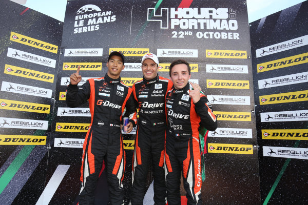 2017 European Le Mans Series, Portimao, Potugal. 20th-22nd October 2017 #22 Memo Rojas (MEX) / Ryo Hirakawa (JPN) / Leo Roussel (FRA) G-Drive Racing Oreca 07 - Gibson World copyright. JEP/LAT Images