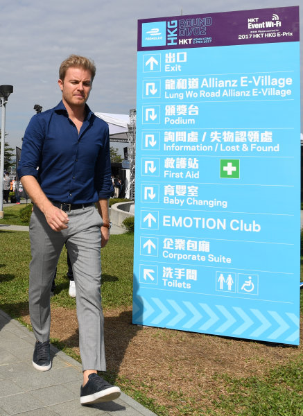 2017/2018 FIA Formula E Championship. Round 1 - Hong Kong, China. Saturday 02 December 2017. Nico Rosberg Photo: Sam Bagnall/LAT/Formula E ref: Digital Image SB1_6235