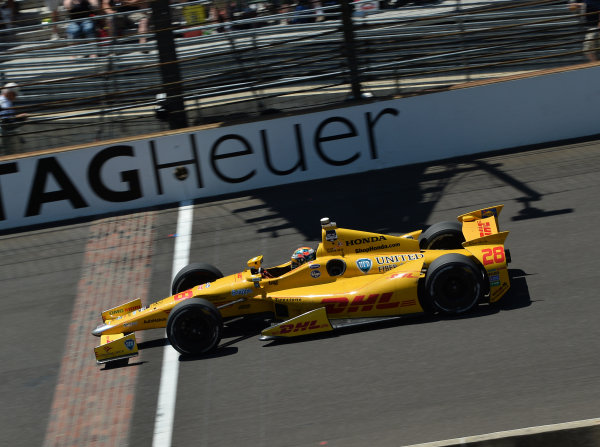 Indy 500 winner Ryan Hunter-Reay (USA) Andretti Autosport. Verizon IndyCar Series, Rd4, Indianapolis 500, Indianapolis, USA, Sunday 25 May 2014.
