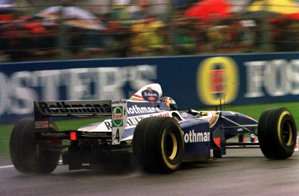 1997 San Marino Grand Prix.Imola, Italy.25-27 April 1997.Heinz-Harald Frentzen (Williams FW19 Renault) 1st position.World Copyright - LAT Photographic