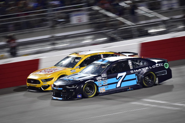 #7: Corey LaJoie, Spire Motorsports, Chevrolet Camaro Shavelogic, #6: Ryan Newman, Roush Fenway Racing, Ford Mustang Oscar Mayer Bacon