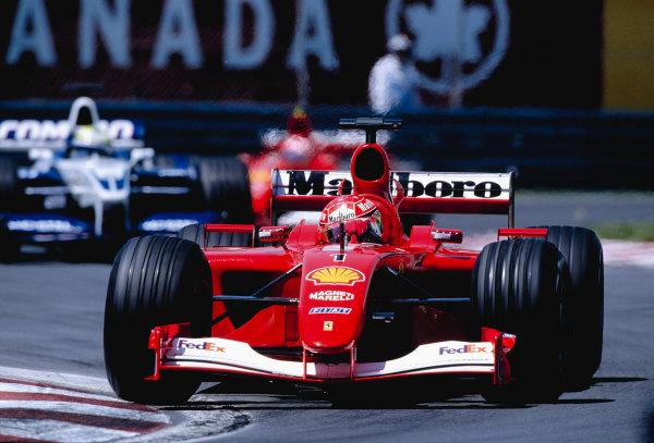 2001 Canadian Grand Prix.Montreal, Quebec, Canada. 8-10 June 2001.Michael Schumacher (Ferrari F2001).Ref-01 CAN 27.World Copyright - Clive Rose/LAT Photographic