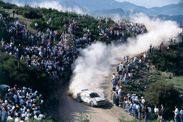 2003 Racing Past. . Exhibition1992 Acropolis Rally, Greece. Didier Auriol/Bernard Occelli (Lancia HF Integrale), 1st position.World Copyright - LAT PhotographicExhibition ref: a053
