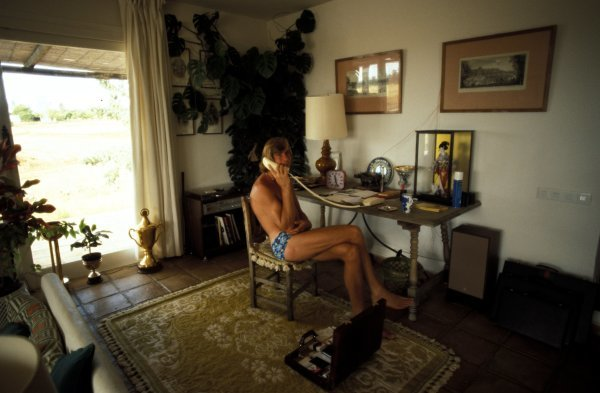 James Hunt (GBR) at home.James Hunt Lifestyle, Circa 1976.