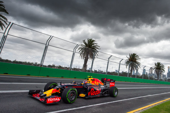 Daniil Kvyat (RUS) Red Bull Racing RB12 at Formula One World Championship, Rd1, Australian Grand Prix, Practice, Albert Park, Melbourne, Australia, Friday 18 March 2016.