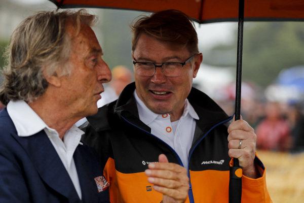 Luca Cordero di Montezemolo and Mika Häkkinen at the Michael Schumacher Celebration