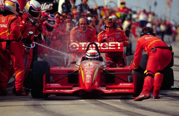 1996 CART Elkhart LakeAlex Zanardi pits-1996, Michael L. LevittLAT Photographic