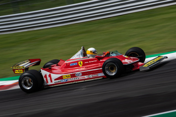 Jody Scheckter drives the 1979 Ferrari 312T4 with which he won his world championship