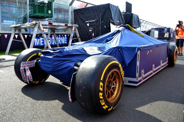 Scuderia Toro Rosso STR8 frieght is unloaded. Formula One World Championship, Rd1, Australian Grand Prix, Preparations, Albert Park, Melbourne, Australia, Monday 11 March 2013.