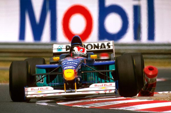 Hungaroring, Hungary.8-10 August 1997.Johnny Herbert (Sauber C16 Petronas Ferrari) 3rd position.Ref-97 HUN 06.World  Copyright - LAT Photographic