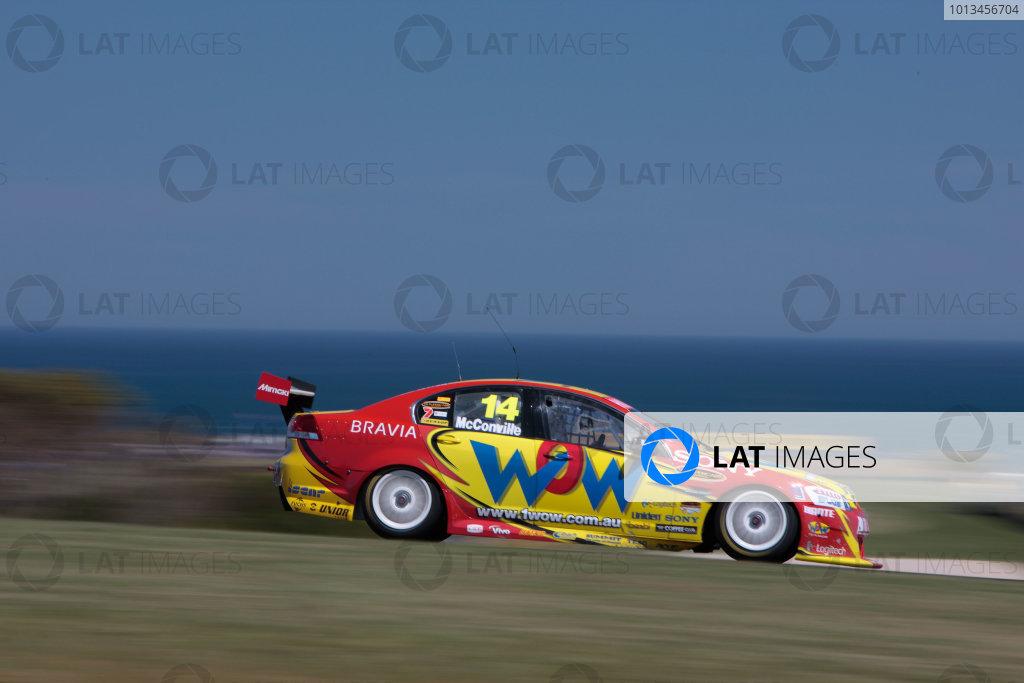 2009 Australian V8 SupercarsPhilip Island, Victoria, Australia.7th - 8th November 2009.BJR, Brad Jones Racing, Cameron McConville, Car 14, Commodore VE, Holden, WOW Racing.World Copyright: Mark Horsburgh/LAT Photographicref: Digital Image 14-McConville-EV12-09-1837