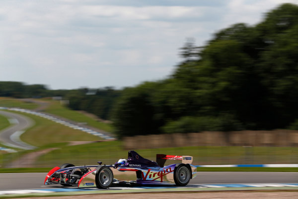 FIA Formula E Test Day, Donington Park, UK.  9th - 10th July 2014.  Sam Bird, Virgin Racing. Photo: Sam Bloxham/FIA Formula E ref: Digital Image _SBL1409