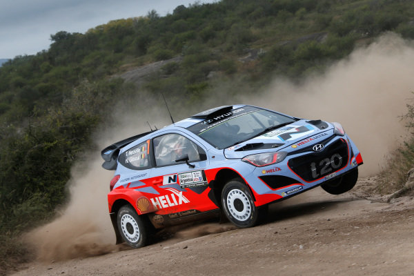 Thierry Neuville (BEL) / Nicolas Gilsoul (BEL) Hyundai i20 WRC. FIA World Rally Championship, Rd5, Rally Argentina, Preparations and Shakedown, Cordoba-Villa Carlos Paz, Argentina, 8 May 2014.