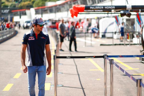 Monte Carlo, Monaco. Wednesday 24 May 2017. Carlos Sainz Jr, Toro Rosso. World Copyright: Sam Bloxham/LAT Images ref: Digital Image _W6I9864