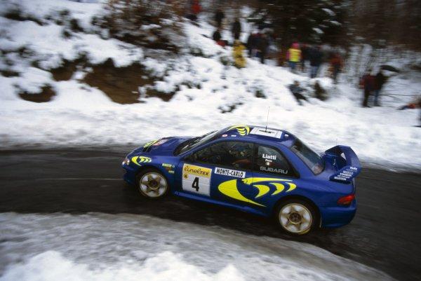 1997 World Rally Championship.Monte Carlo Rally, Monaco. 19-22 January 1997.Piero Liatti/Fabrizia Pons (Subaru Impreza WRC), 1st position.World Copyright: LAT PhotographicRef: 35mm transparency 97RALLY01