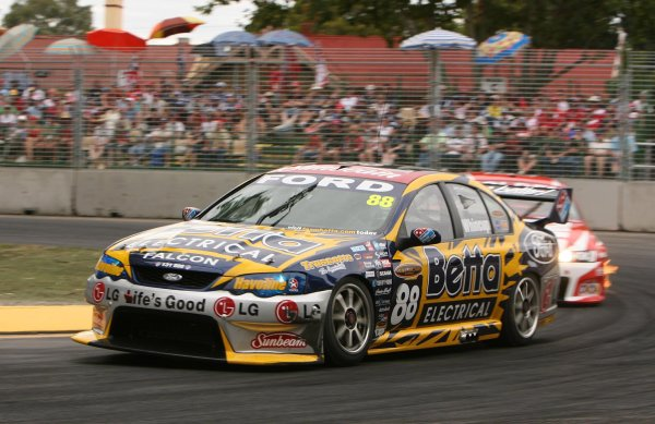 2006 Australian V8 Supercars Clipsal 500, Adelaide, Australia. 25th - 26th March 2006. Race 2 winner Jamie Whincup (Team Betta Electrical Ford Falcon BA). World Copyright: Mark Horsburgh/LAT Photographic ref: Digital Image Only.