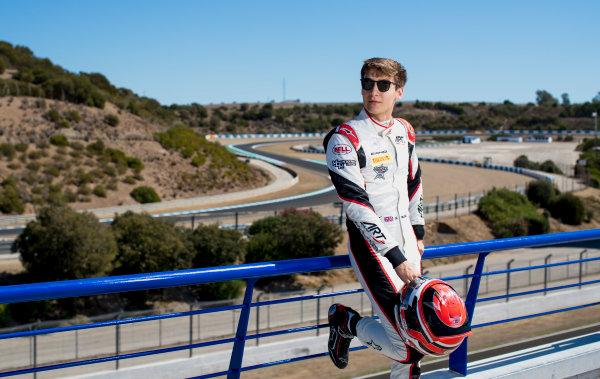 2017 GP3 Series Round 7.  Circuito de Jerez, Jerez, Spain. Thursday 5 October 2017. George Russell (GBR, ART Grand Prix).  Photo: Zak Mauger/GP3 Series Media Service. ref: Digital Image _56I3938