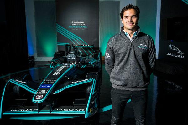 Panasonic Jaguar Racing RE:CHARGE LIVE EVENT Whitely Engineering Centre, Warwickshire, UK Thursday 21 September 2017. Nelson Piquet Jr Photo: Andrew Ferraro/LAT/Jaguar ref: Digital Image _FER7286