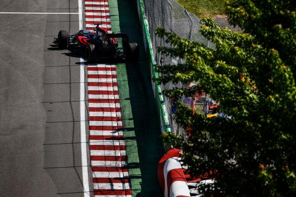 Circuit Gilles Villeneuve, Montreal, Canada. Friday 10 June 2016. Fernando Alonso, McLaren MP4-31 Honda. World Copyright: Sam Bloxham/LAT Photographic ref: Digital Image _R6T9670