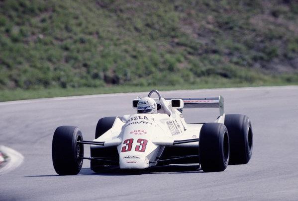 1982 Austrian Grand Prix.Osterreichring, Zeltweg, Austria.13-15 August 1982.Tommy Byrne (Theodore TY02 Ford).Ref-82 AUT 47.World Copyright - LAT Photographic