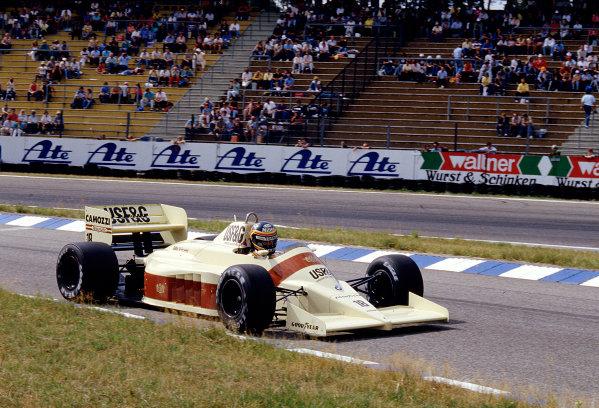 1986 German Grand Prix. Hockenheim, Germany. 25-27 July 1986. Thierry Boutsen (Arrows A9 BMW). Ref-86 GER 37. World Copyright - LAT Photographic