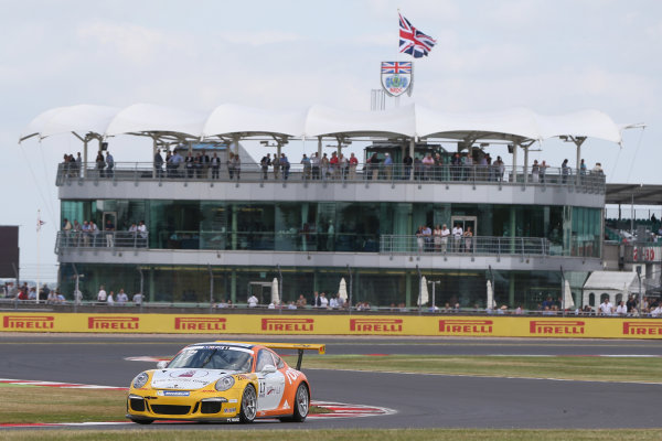 Porsche Supercup Round 4. Silverstone Circuit, Northamptonshire, England. Sunday 5th July 2015. Philip Eng (AUT) World Copyright: Jakob Ebrey/LAT Photographic
