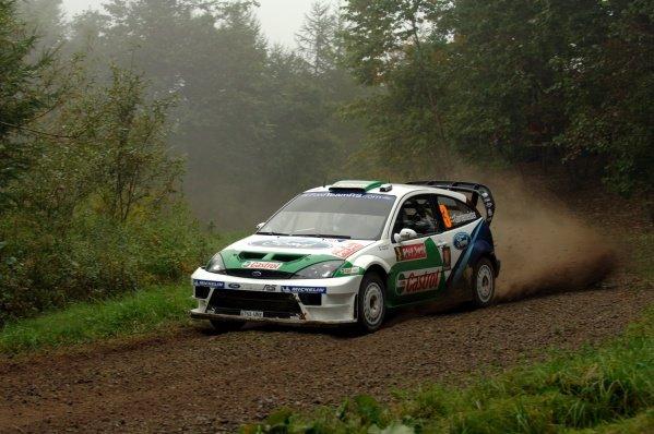 2005 FIA World Rally Championship, Rally Japan, September 29 - October 2, 2005.Obihiro, Japan.Leg 2.Toni Gardemeister (FIN) on stage 10.Digital Image