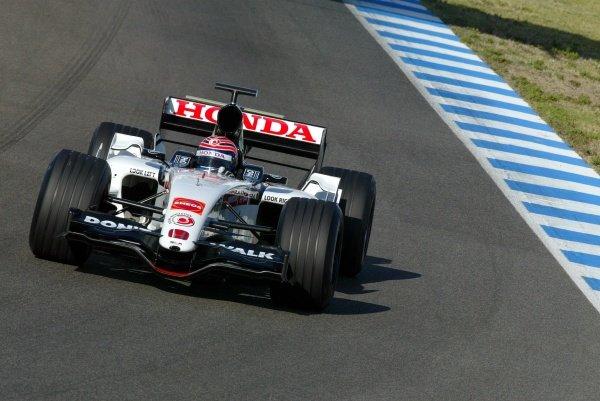 Tony Kanaan (BRA) BAR Honda 007.Formula One Testing, Day One, Jerez, Spain, Thursday 29 September 2005.DIGITAL IMAGE