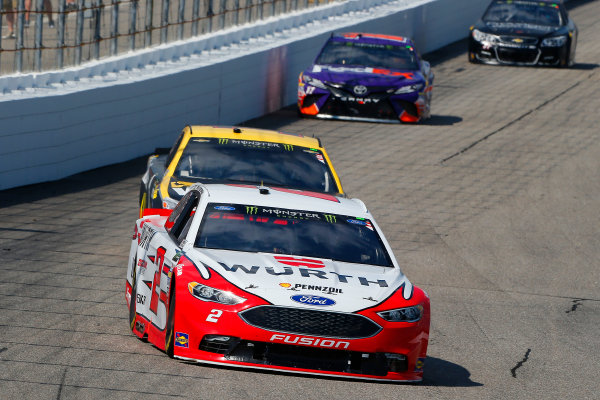 Monster Energy NASCAR Cup Series Overton?s 301 New Hampshire Motor Speedway, Loudon, NH USA Sunday 16 July 2017 Brad Keselowski, Team Penske, Wurth Ford Fusion and Jamie McMurray, Chip Ganassi Racing, GearWrench Chevrolet SS World Copyright: Russell LaBounty LAT Images