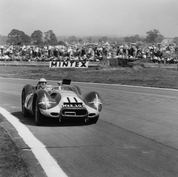Goodwood, England. 13th September 1958 Ross Jensen/Ivor Bueb/Bruce Halford (Lister - Jaguar), retired, World Copyright: LAT Photographic Ref:  1395.