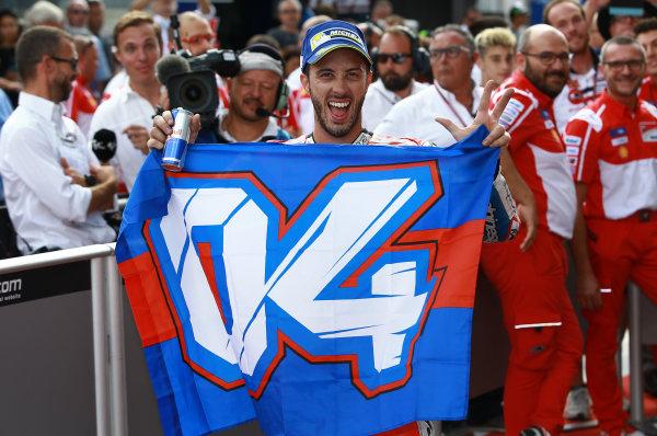 2017 MotoGP Championship - Round 11 Spielberg, Austria Sunday 13 August 2017 Race winner Andrea Dovizioso, Ducati Team World Copyright: Gold and Goose / LAT Images ref: Digital Image 686861