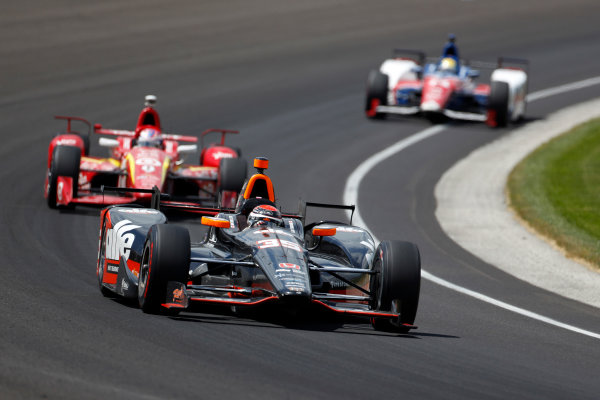 29 May, 2016, Indianapolis, Indiana, USA Alex Tagliani leads Scott Dixon ?2016, Phillip Abbott LAT Photo USA