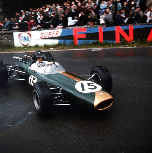 Spa-Francorchamps, Belgium.11-13 June 1965.Dan Gurney (Brabham BT11 Climax).Ref-3/1700.World Copyright - LAT Photographic