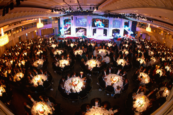 1996 Autosport Awards. Grosvenor House Hotel, London. 1st December 1996. A view of the Great Room with guests sitting at their tables and main stage. World Copyright: LAT Photographic. Ref:  Colour Transparency.