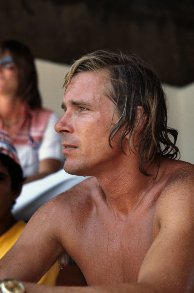 Jacarepagua, Rio de Janeiro, Brazil.  27th - 29th January 1978. James Hunt (McLaren M26-Ford), retired, portrait.  World Copyright: LAT Photographic.  Ref:  78 BRA 34.