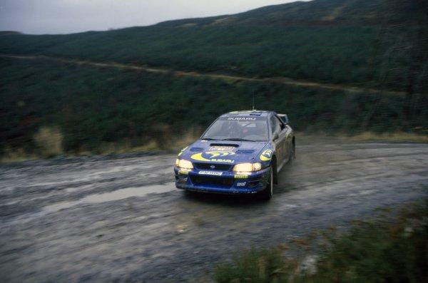 1997 World Rally Championship.Network Q RAC Rally, Great Britain. 22-25 November 1997.Colin McRae/Nicky Grist (Subaru Impreza WRC), 1st position.World Copyright: LAT PhotographicRef: 35mm transparency 97RALLY14