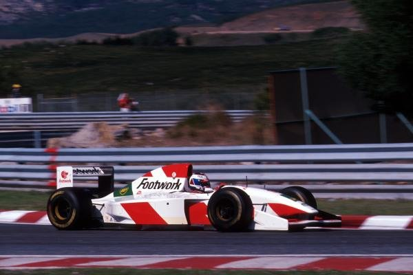 Jos Verstappen (NED) was invited to test the Arrows FA14 and he stunned the F1 world with a supremely assured performance. 